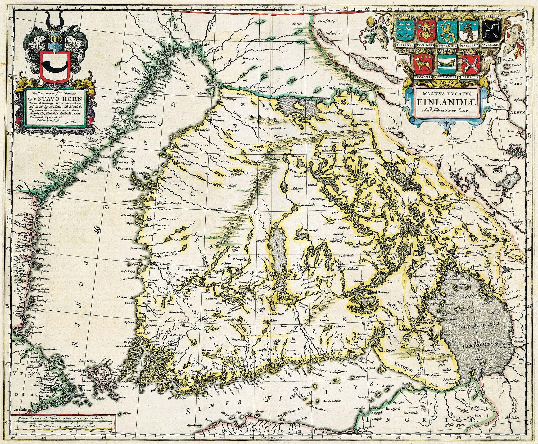 Suomi kartta historia